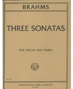 Brahms, Johannes - Sonatas Op 78 , 100 and 108 for Violin and Piano - International Edition